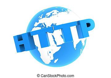 HTTP Around the World - Glossy Blue