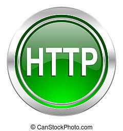 http icon, green button