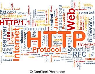 HTTP word cloud