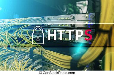 https, assurer, transfert données, protocole, utilisé, sur, monde, large, web.