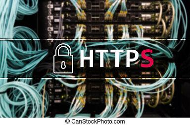 https, secure, data overfører, protokol, bruge, på, verdenen, vid, web.