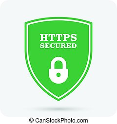 Https secure website - Ssl certificate shield with padlock