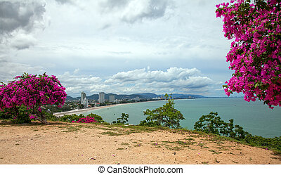 Hua Hin Town - View of Hua Hin town seen from Chopstick/ ...
