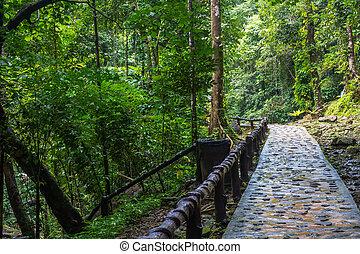 Huai-To Waterfall in famous Krabi seaside town, Thailand. -...