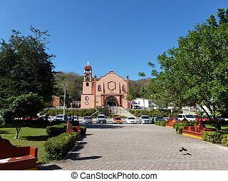 Huatulco Square and church - Main church in the square of...