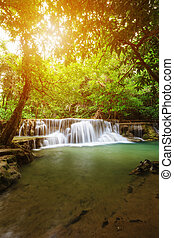 Huay Mae Kamin waterfall in Khuean Srinagarindra National...
