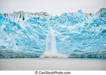Glacier Calving - Natural Phenomenon - Hubbard Glacier...