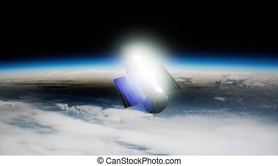 Hubble Space Telescope orbiting Earth. Elements of this image furnished by NASA.