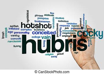Hubris word cloud - Hubris concept word cloud background