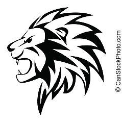 huczeć, lew