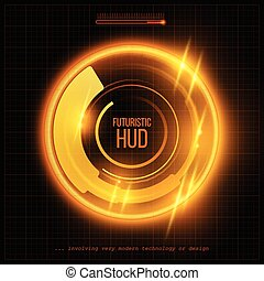hud, 抽象的, イラスト, バックグラウンド。, ベクトル, 未来派