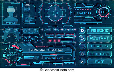 hud, 要素, infographic, gui, ユーザー, パネル, 未来派, インターフェイス