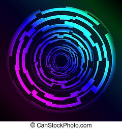 hud, anéis, plasma, olá-tecnologia, efeito