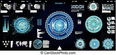 hud, concept, ui, interface, technologie, futuriste