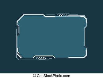 hud, contrôle, disposition, element., display., écran, panneau, illustration, design., dashboard., vecteur, technologie, virtuel, interface, fi, sci, résumé, futuriste, utilisateur