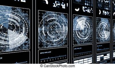 HUD Futuristic technological background