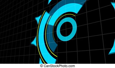 HUD Heads Up Display Scanner high tech target digital read out. Abstract digital background