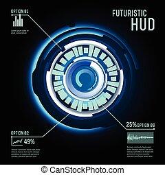hud, imfographics, interface, futuriste