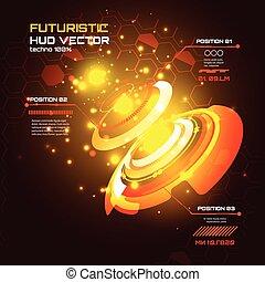 hud, infographics, vecteur, fond, interface, technologie, futuriste