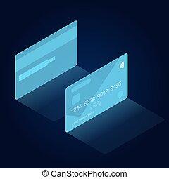hud, isometric, head-up, crédito, interface, estilo, exposição, cartão, vista