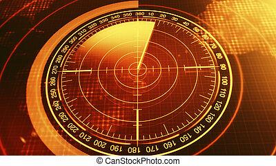 hud, monitor, tengeralattjárók, ellenző, cél, map., radar, ships., hanglokátor, navigáció, futuristic