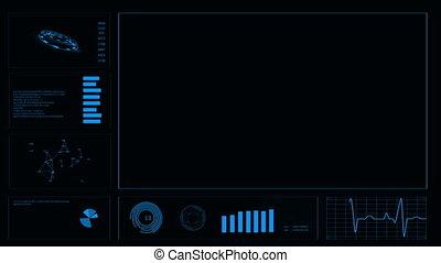 hud., résumé, arrière-plan., interface utilisateur, futuriste