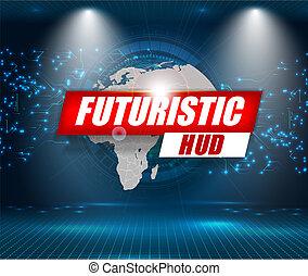 hud, résumé, arrière-plan., vecteur, ui, interface, technologie, futuriste