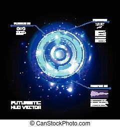 hud, sci, infographics, vecteur, utilisateur, fond, fi, technologie, futuriste, interface
