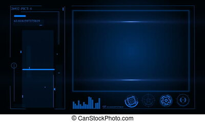HUD. User interface and futuristic instrument panel with on-screen projectors.