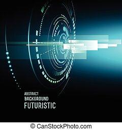 hud, vecteur, futuriste, fond, interface