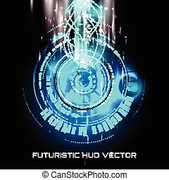 hud, vecteur, sci-fi, futuriste, interface