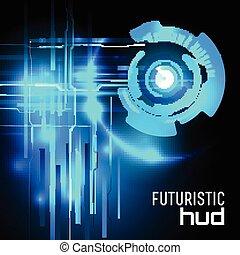 hud, vecteur, sci-fi, futuriste, interface