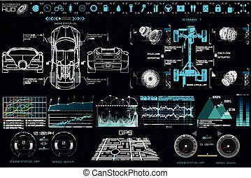hud, voiture, style, service