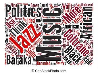hudba, a, politika, vzkaz, mračno, pojem, text, grafické pozadí