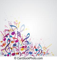 hudba, abstraktní, grafické pozadí