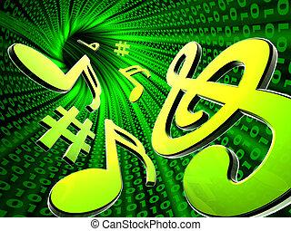 hudba, digitální