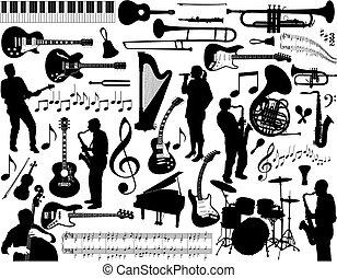 hudba, elements.