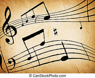 hudba, grafické pozadí, abstraktní