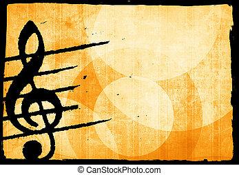 hudba, grunge, grafické pozadí
