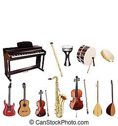 hudba, instuments
