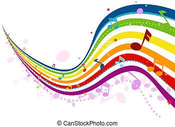 hudba, mávnutí