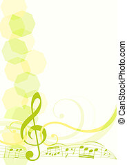 hudba, námět, grafické pozadí