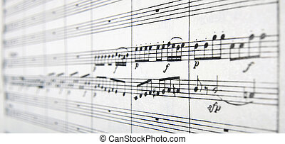 hudba, partiture