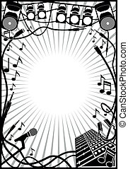 hudba, pralátka, hraničit