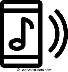 hudba, telefon
