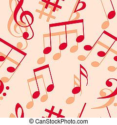 hudba, věnovat pozornost., seamless, wallpaper.