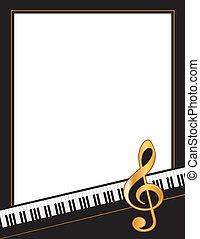 hudba, zábava, případ, plakát