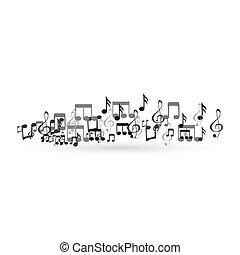 hudba zaregistrovat, konstruovat nádech