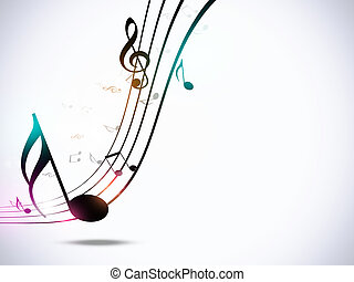 hudba zaregistrovat, strana, grafické pozadí