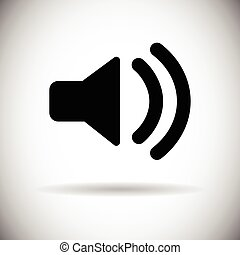 hudba, znít, hlasitost, megafon, ikona